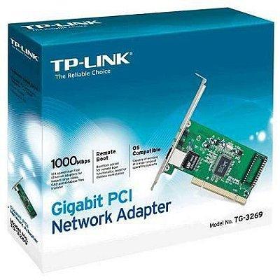 PLACA DE REDE TP-LINK GIGABIT 10/100/1000MBPS PCI EXPRESS TG-3468