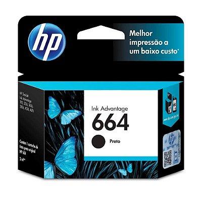 CARTUCHO TINTA HP 664 PRETO F6V29AB