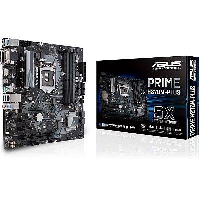 PLACA-MAE ASUS P INTEL LGA 1151 MATX PRIME H370M-PLUS, DDR4