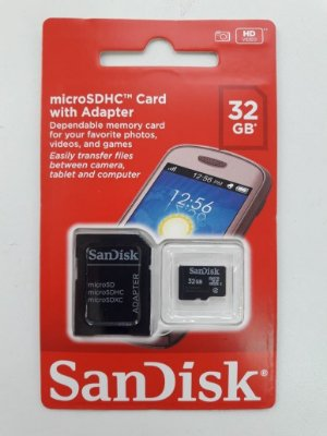 CARTÃO DE MEMÓRIA SANDISK CLASSE 4 SD CARD 32GB SDSDQM-032G-B35A
