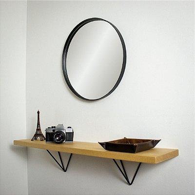 Espelho Conrado 40 cm Ø - Preto