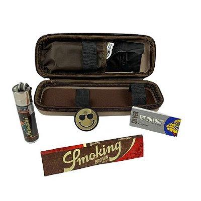 Kit Puff Pequeno Creme - Smoking com Dichavador