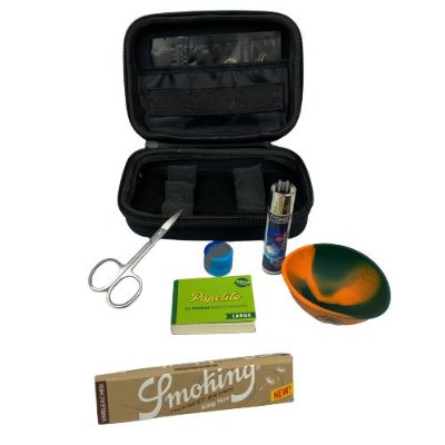 Kit Puff Grande Preto - Smoking com Cuia