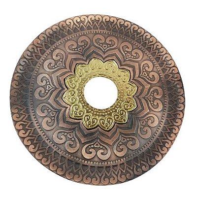 Prato Joy - Bronze com Dourado