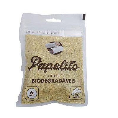Filtro Papelito Biodegradaveis 6mm - 120UND