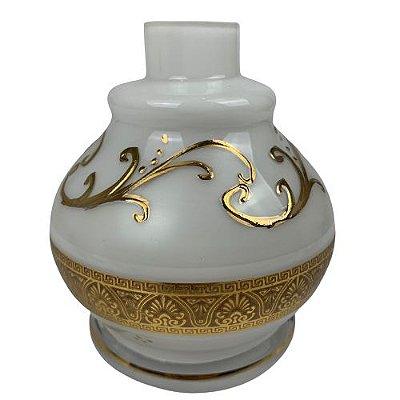 Vaso Pequeno Personalizado - Branco e Dourado
