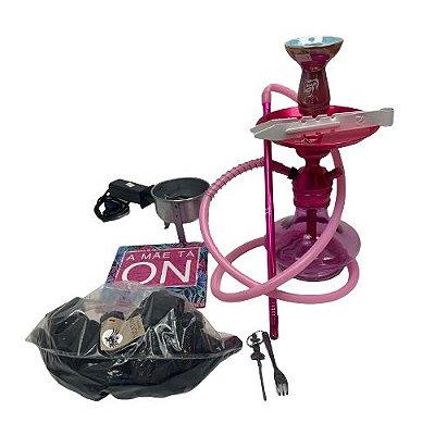 Kit Narguile Completo TRITON  - Rosa com Rosh Bking