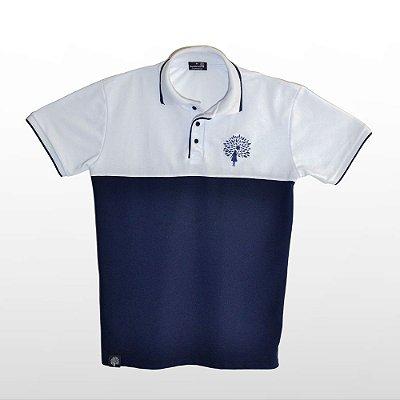 Camiseta Masculina Polo, Azul e Branco