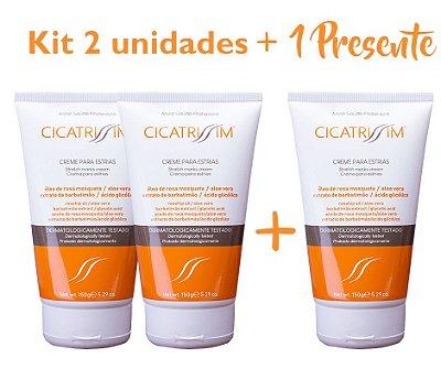 Kit Cicatrissim 2 unidades + Cicatrissim 1 unidade Presente