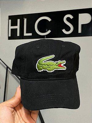 Lacoste Boné Big croc Preto