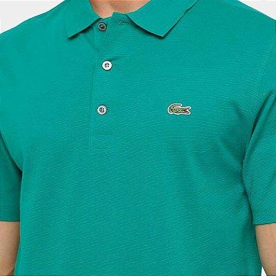 Camisa Polo Lacoste Super Light Masculina - Verde Limão e Verde Água
