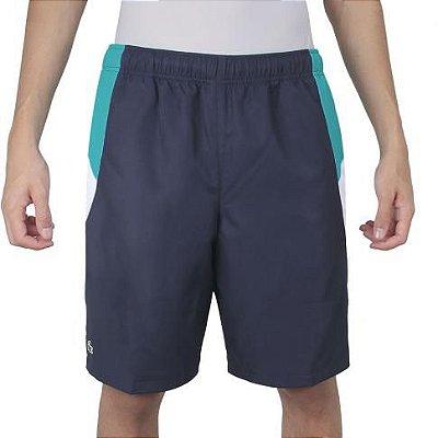 Shorts Lacoste Performance GH4760 Marinho Verde Turquesa e Branco