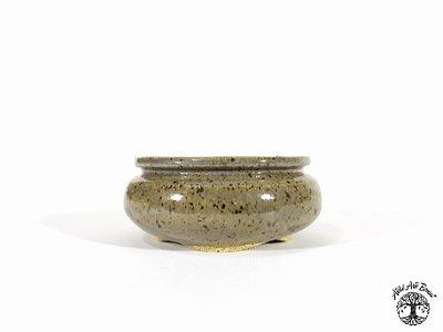 Vaso Redondo Esmaltado Lê Cerâmica 9,5x4 cm