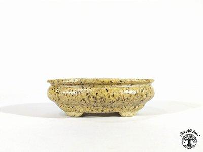 Vaso Oval Esmaltado Lê Cerâmica 14x10,5x4,6 cm