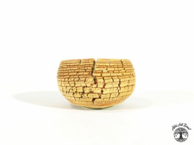 Vaso Redondo Craquelado Lê Cerâmica 9x5,2cm