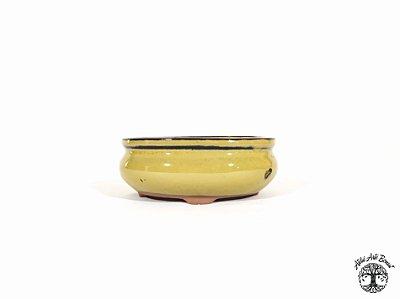 Vaso Bonsai Oval Chinês Yixing 12x10x4,5cm (2ª Linha)