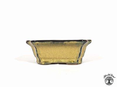 Vaso Bonsai Retangular Chinês Yixing 12x9,5x4,5 cm (2ª Linha)
