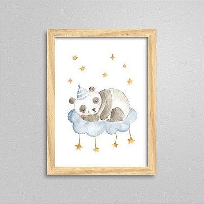 Quadro Tema Soninho do Bebê - Urso Panda