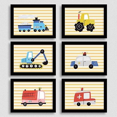 Quadrinhos Tema Carros e Transporte