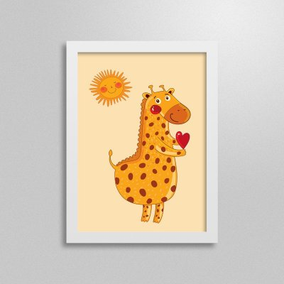 Quadro Love Animals Girafa