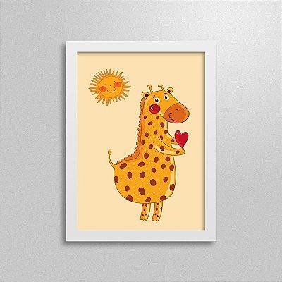 Quadro Love Animals Girafa