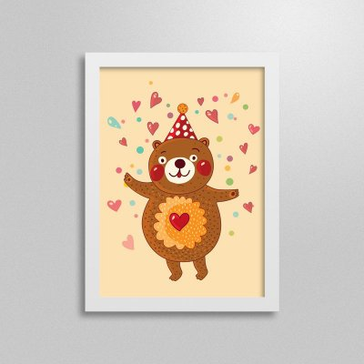 Quadro Love Animals Urso