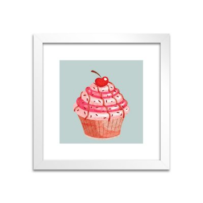 Quadro Cupcake Cherry