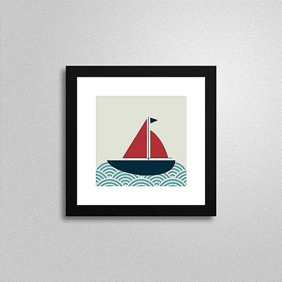 Quadro Marinheiro Barco