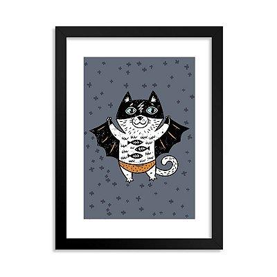 Quadro Super-Herói Gato