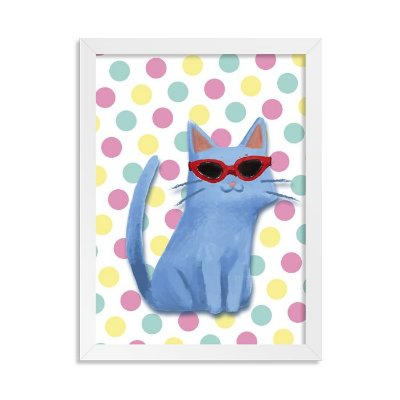 Quadro Polka Cat