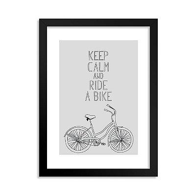 Quadrinho Bicicleta Keep Calm Branco