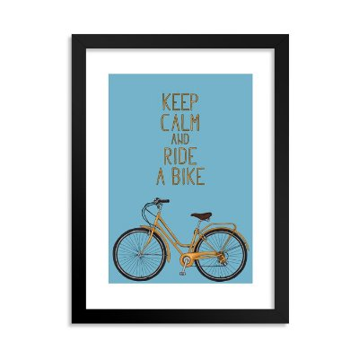 Quadrinho Bicicleta Keep Calm Azul