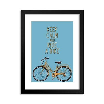Quadrinho Bicicleta Keep Calm Azul