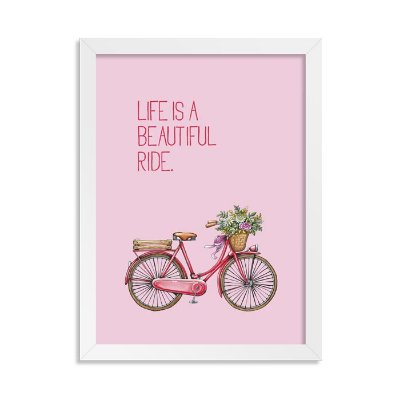 Quadrinho Bicicleta Beautiful Rosa