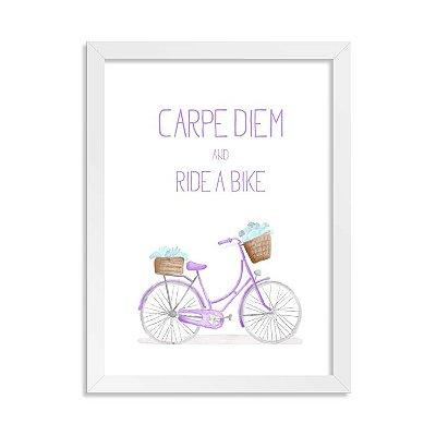 Quadrinho Bicicleta Carpe Diem Girl