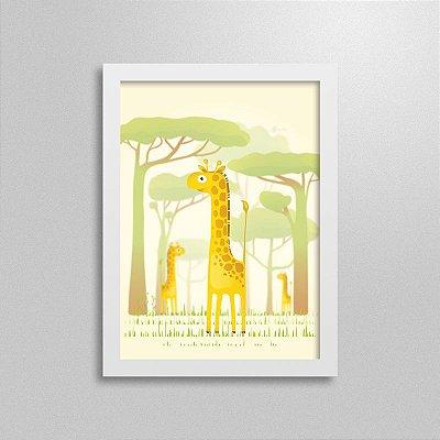 Quadro Safari Girafa