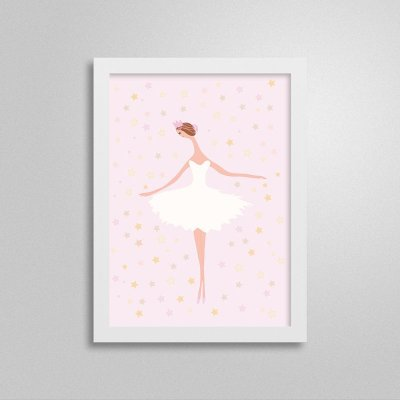 Quadrinho Bailarina Rosa