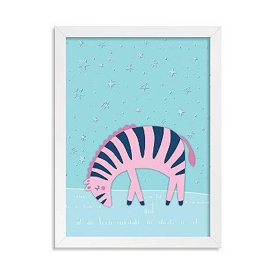 Quadrinho Exuberante Zebra