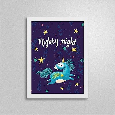 Quadro Boa noite, Unicórnio 1