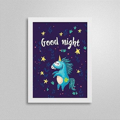 Quadro Boa noite, Unicórnio 3