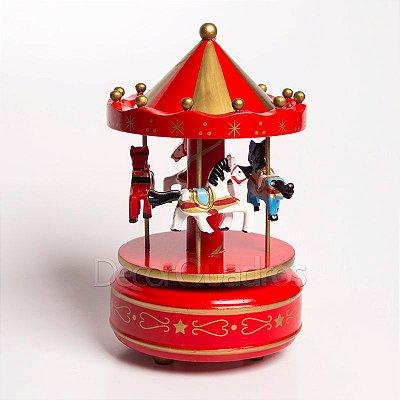 Carrossel com Caixa de Música - Vermelho