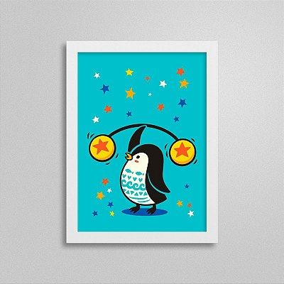 Quadro Circo - Pinguim