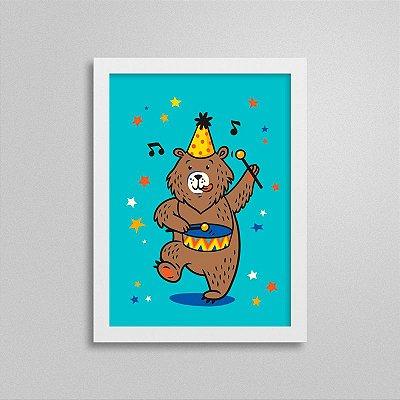 Quadro Circo - Urso