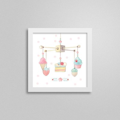 Quadro decorativo Sweet Baby Girl - Móbile 1