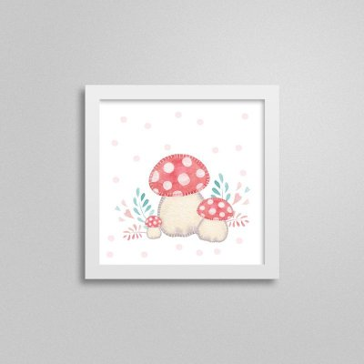Quadro decorativo Sweet Baby Girl - Cogumelo