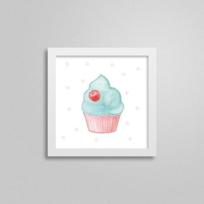 Quadro decorativo Sweet Baby Girl - Cupcake