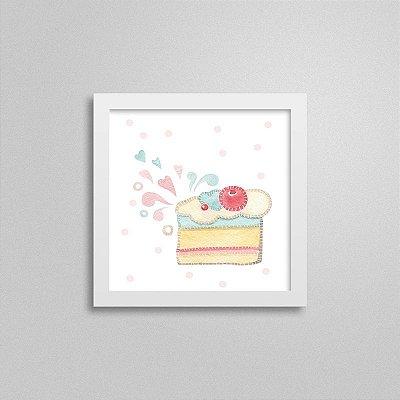 Quadro decorativo Sweet Baby Girl - Bolo Gostoso