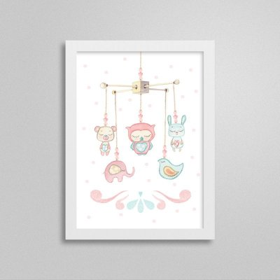 Quadro decorativo Sweet Baby Girl - Móbile 2