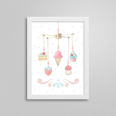 Quadro decorativo Sweet Baby Girl - Móbile 3