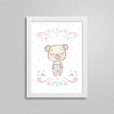 Quadro decorativo Sweet Baby Girl - Ursinho